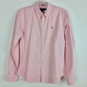 Ralph Lauren Slim Fit Pinstripe Oxford Shirt